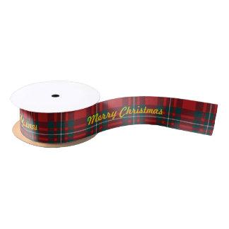 Merry Chrismas MacGregor Tartan Blank Ribbon