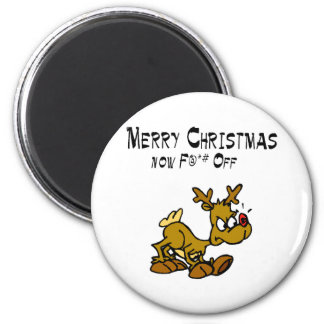 Merry Chrismas Now F*ck Off 2 Inch Round Magnet