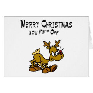 Merry Chrismas Now F Off Card