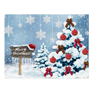 Merry Chrismas Postcard