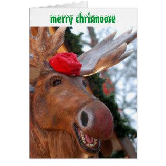 Merry Chrismoose Christmas Card