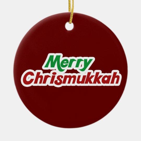 Merry Chrismukkah Ceramic Ornament