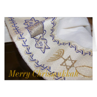 Merry Chrismukkah judeo-christian Greeting card