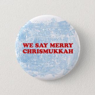 merry chrismukkah pinback button