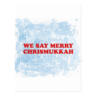 merry chrismukkah postcard