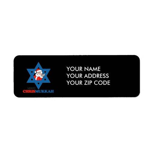 Merry Chrismukkah - Return Address Label