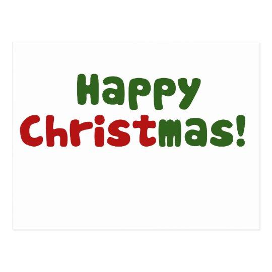 Merry Christ mas Postcard
