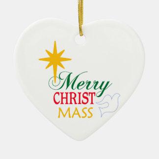 Merry Christ Mass Ceramic Ornament