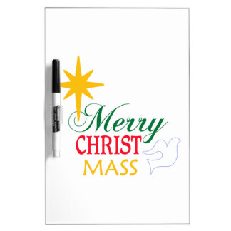 Merry Christ Mass Dry Erase Board