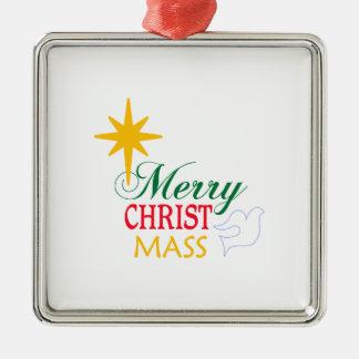 Merry Christ Mass Metal Ornament