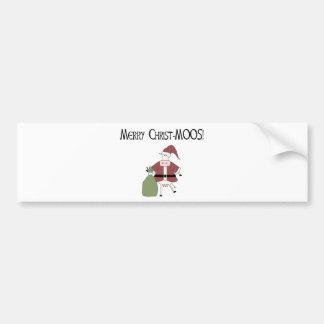 Merry Christ-MOOS Bumper Sticker