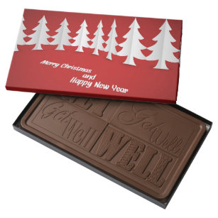 merry christas and happy new year milk chocolate bar