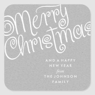 MERRY CHRISTMAS 02 | HOLIDAY GIFT TAG SQUARE STICKER