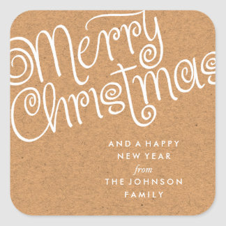 MERRY CHRISTMAS 02 | HOLIDAY GIFT TAG STICKER