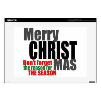 """Merry Christmas 15"""" Laptop Decal"""