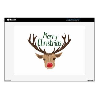 "Merry Christmas 15"" Laptop Skin"