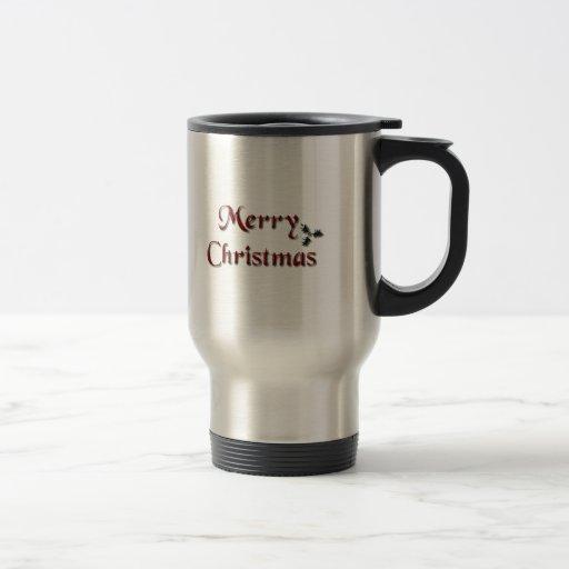 merry christmas 15 oz stainless steel travel mug