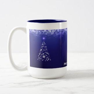Merry Christmas 15 oz Two-Tone Mug