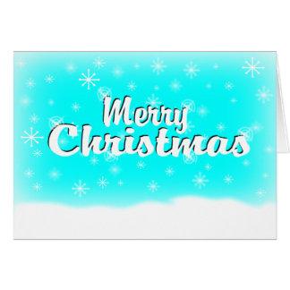 MERRY CHRISTMAS 1 BABYBLUE CARD