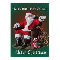 Happy birthday jesus cards greeting photo cards zazzle greeting cards happy birthday jesus postcards merry christmas 1 bookmarktalkfo Gallery
