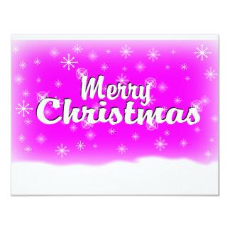 MERRY CHRISTMAS 1 FUCHSIA CARD
