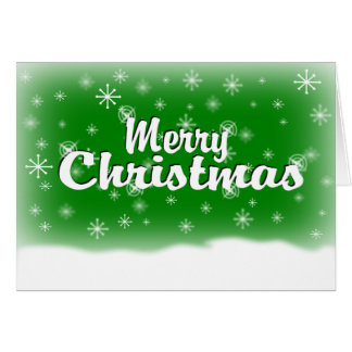 MERRY CHRISTMAS 1 GREEN CARD