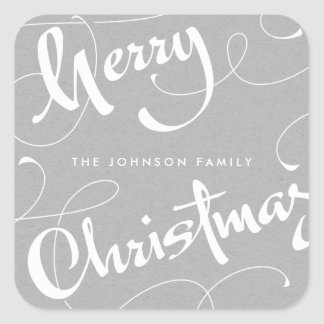MERRY CHRISTMAS #1 | NEUTRALS | STICKER