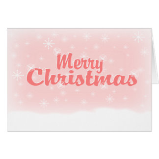 MERRY CHRISTMAS 1 PINK CARD