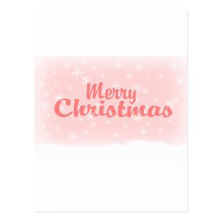 MERRY CHRISTMAS 1 PINK POSTCARD
