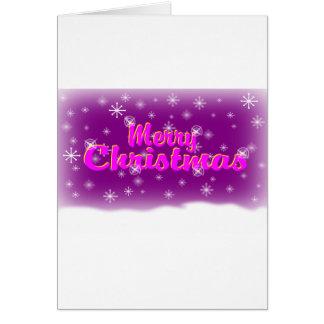 MERRY CHRISTMAS 1 PURPLE CARD