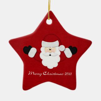 Merry Christmas 2011 Ceramic Ornament