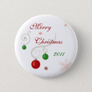 Merry Christmas 2011 Pinback Button