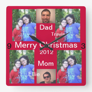 Merry Christmas 2012 Family Clock