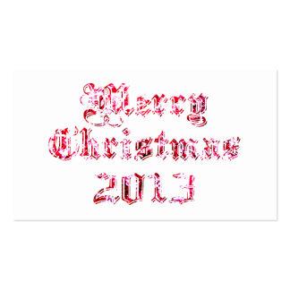 Merry Christmas 2013 Business Card
