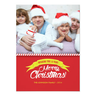 Merry Christmas! 2014 Personalized Photo Card