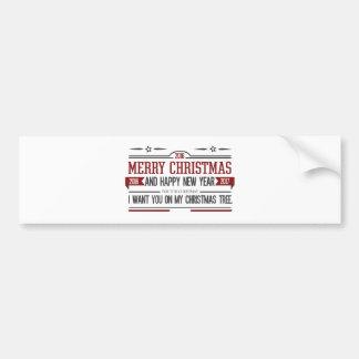 Merry Christmas 2016 Bumper Sticker