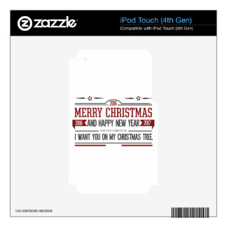 Merry Christmas 2016 Decals For iPod Touch 4G