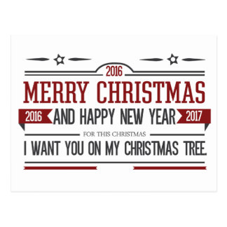 Merry Christmas 2016 Postcard