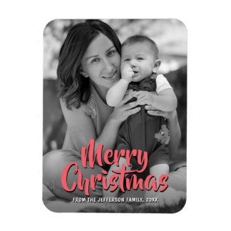 Merry Christmas 2017 Baby Family Wedding Photo Magnet