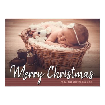 Professional Business Merry Christmas 2017 Baby Photo Greeting Holiday Card