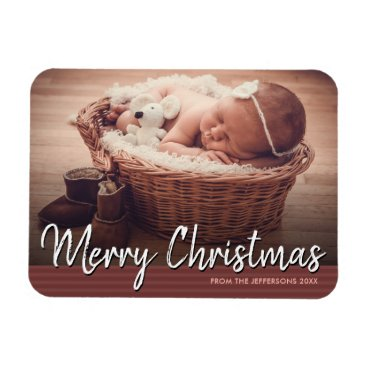 Professional Business Merry Christmas 2017 Baby Photo Holiday Magnet