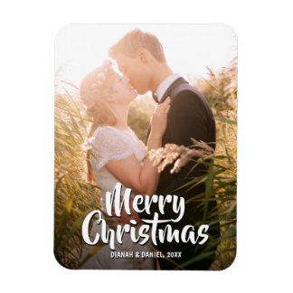 Merry Christmas 2017 Couples Family Wedding Photo Magnet