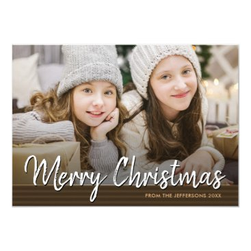 Professional Business Merry Christmas 2017 Family Photo Greeting Holiday Card