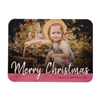 Merry Christmas 2017 Family Photo Holiday Picture Magnet