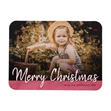 Professional Business Merry Christmas 2017 Family Photo Holiday Picture Magnet