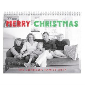 Merry Christmas 2017 Personalized Calendar