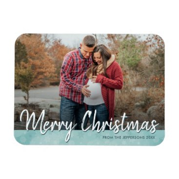Professional Business Merry Christmas 2017 Photo Refrigerator Holiday Magnet