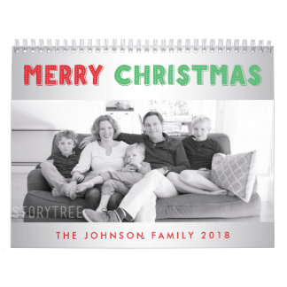Merry Christmas 2018 Personalized Photo Calendars