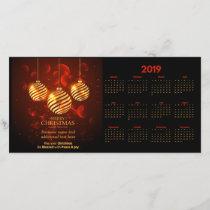 Merry Christmas 2019 Calendar Photocard Card