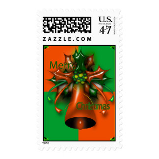 Merry Christmas 21.1x1.3 (Med.) Custom Postage